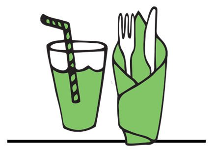 Napkins, Straws and Cutlery - Clean Hands